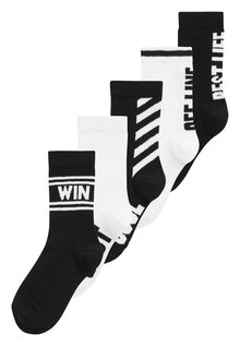 Next Slogan Socks Five Pack (Older)