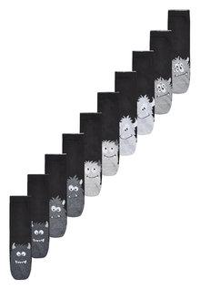 Next Cotton Blend Monster Socks Ten Pack (Older)