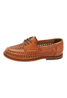 Next Leather Woven Lace-Up Shoes (Older)