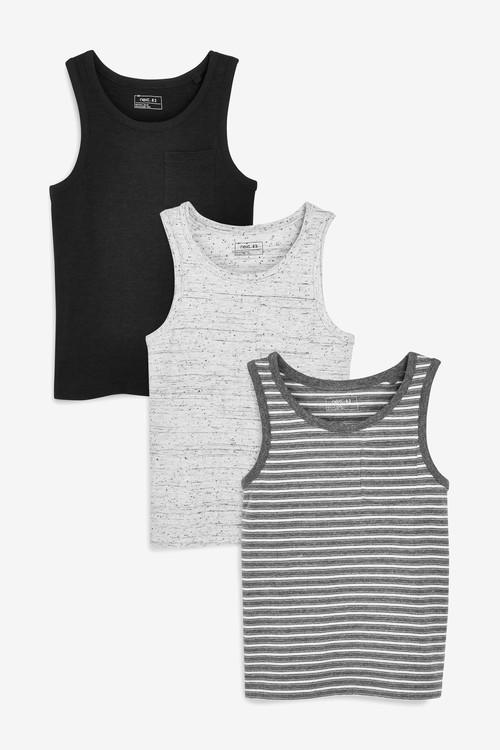 Next Vests Three Pack (3-16yrs)