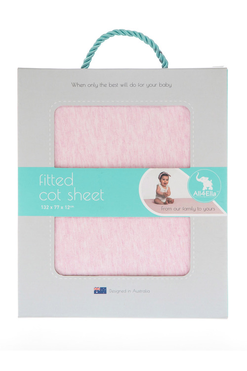 All 4 Ella Jersey Cot Sheet Set