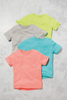 Next Fluro T-Shirt Four Pack (3-16yrs)