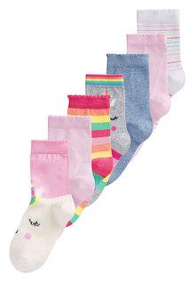 Next Unicorn Socks Seven Pack (Younger)