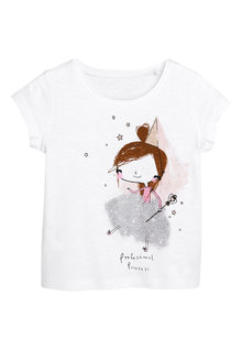 Next Princess Short Sleeve T-Shirt (3mths-7yrs)