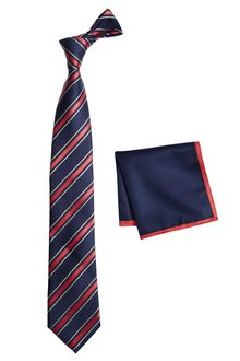 Next Stripe Tie And Pocket Square Set