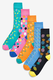 Next Bright Pattern Socks Five Pack