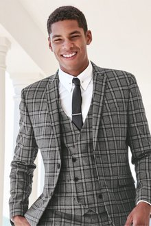 Next Check Suit: Double Breasted Waistcoat - 234944