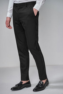 Next Slim Fit Shawl Tuxedo Suit: Trousers