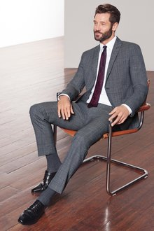 Next Skinny Fit Marzotto Signature Check Suit: Trousers
