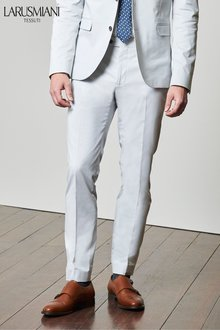 Next Larusmiani Signature Cotton Blend Suit: Trousers- Skinny Fit
