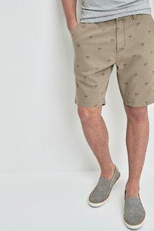 Next Palm Print Chino Shorts