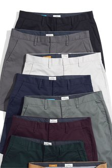 Next Smart Stretch Chino Shorts- Straight Fit