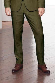 Next Signature Linen Suit: Trousers -Slim Fit
