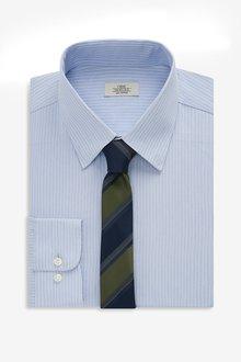 Next Stripe Shirt And Tie Set