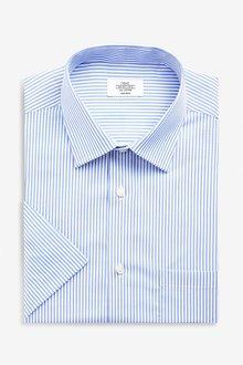 Next Non-Iron Shirt- Regular Fit Short Sleeve