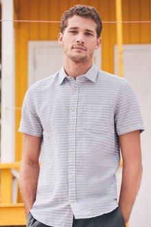 Next Linen Rich Short Sleeve Shirt