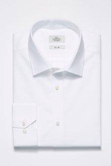 Next Cotton Linen Slim Fit Shirt
