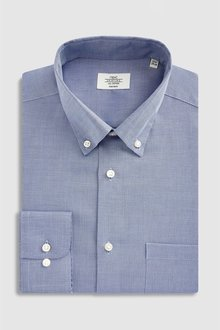 Next Non Iron Slim Fit Textured Button Down Shirt