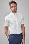 Next Short Sleeve Regular Fit Shirt With Floral Trim