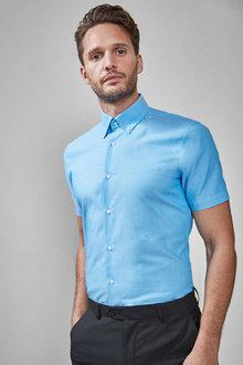 Next Easy Care Oxford Shirt -Regular Fit Short Sleeve