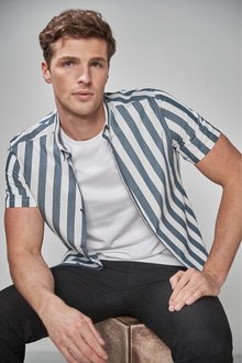 Next Short Sleeve Bold Stripe Shirt