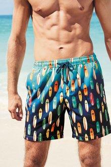 Next Ombre Surfboard Print Swim Shorts