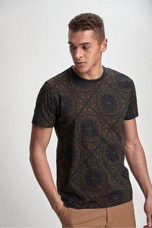 Next Paisley Pattern Tile Print T-Shirt