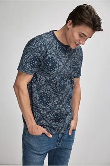 Next Paisley Pattern Tile Print T-Shirt