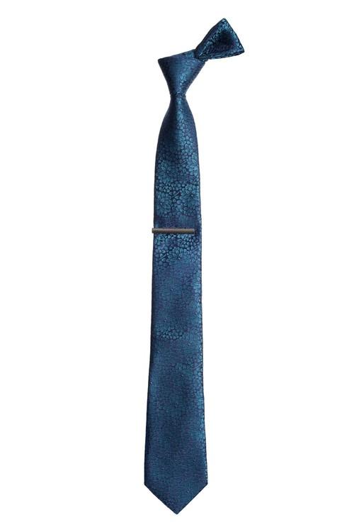 Next Floral Tie With Tie Clip