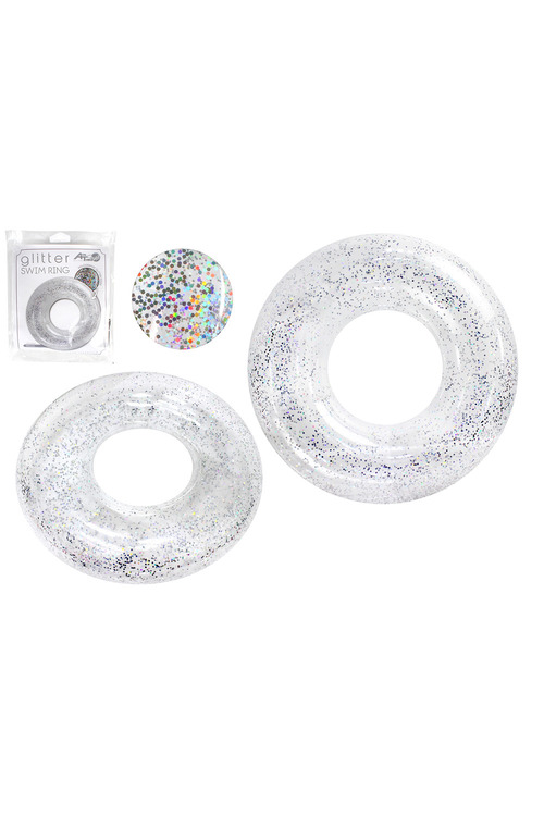 Air Time Holographic Glitter Swim Ring
