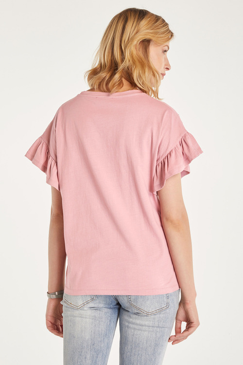 Heine Embellished Ruffle Sleeve Top