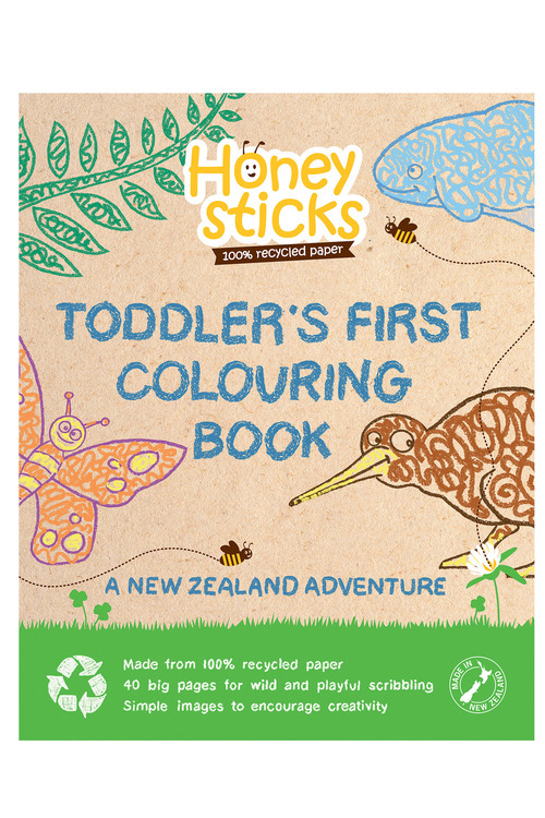Honeysticks New Zealand Adventure Colouring Book