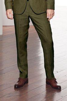 Next Nova Fides Signature Linen Suit: Trousers- Slim Fit