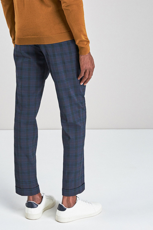 Next Tartan Check Super Skinny Trousers