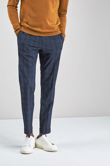 Next Tartan Check Super Skinny Trousers