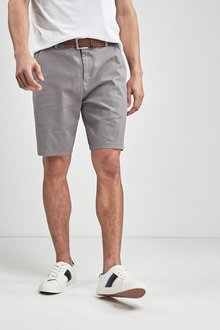 Next Ditsy Print Belted Chino Shorts