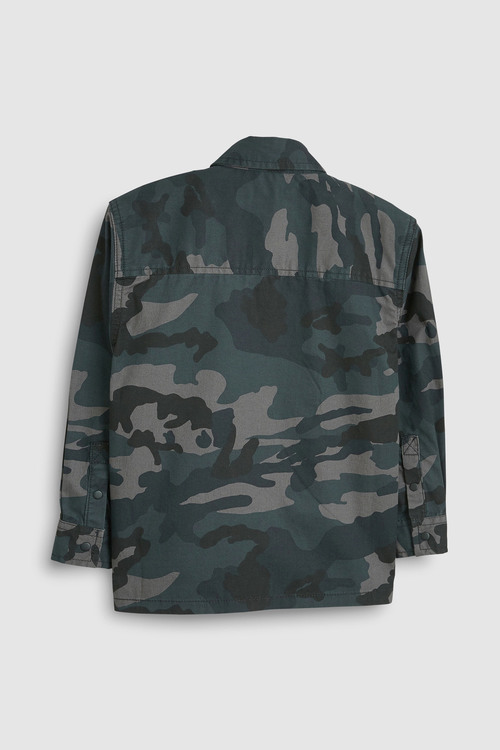 Next CAMOUFLAGE LONG SLEEVE CAMO SHIRT WITH DINO T-SHIRT