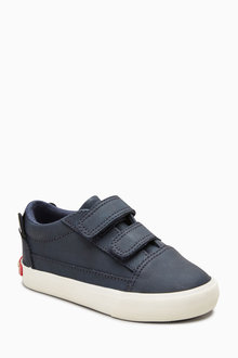 Next NAVY DOUBLE STRAP CHARACTER SHOES - 235278