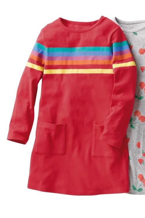 Next RED PLACEMENT RAINBOW POCKET DRESS