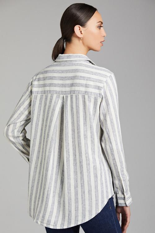 Capture Linen Cotton Roll Cuff Shirt