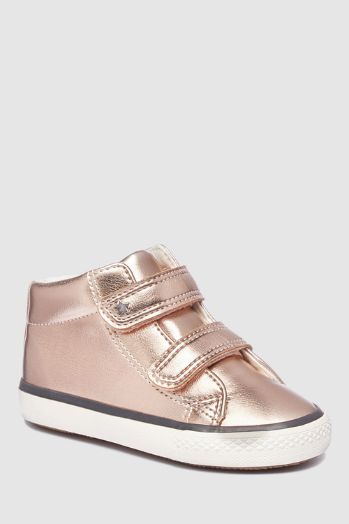 Next ROSE GOLD HIGH TOP TRAINERS