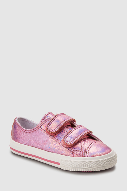 Next PINK METALLIC TOUCH FASTENING TRAINERS