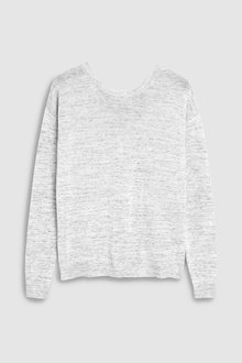 Next Grey Marl Wrap Back Jumper - 235463