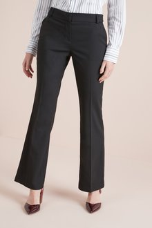 Next BLACK TAILORED BOOT CUT TROUSERS