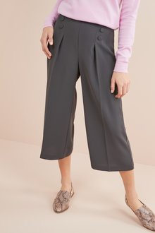 Next CHARCOAL BUTTON CULOTTES - 235514