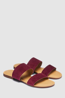 Next PLUM FOREVER COMFORT TWO BAND MULE SANDALS - 235532