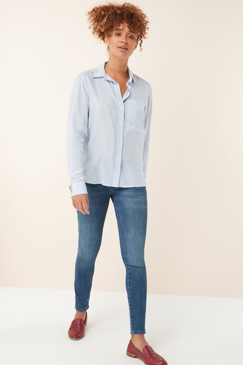 Next Blue/White Stripe Shirt