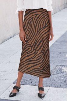Next Zebra Slip Skirt - 235640