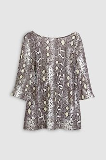 Next Snake Print 3/4 Sleeve Top - 235650