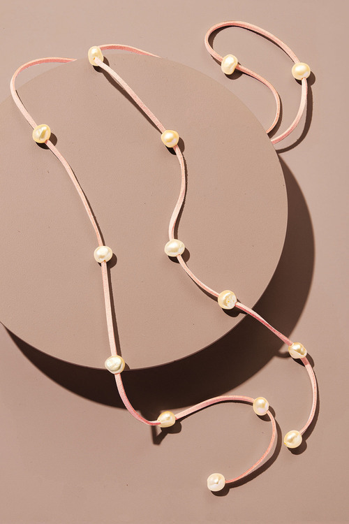 By Fairfax & Roberts Real Pearl And Suede Multi Necklace/Bracelet